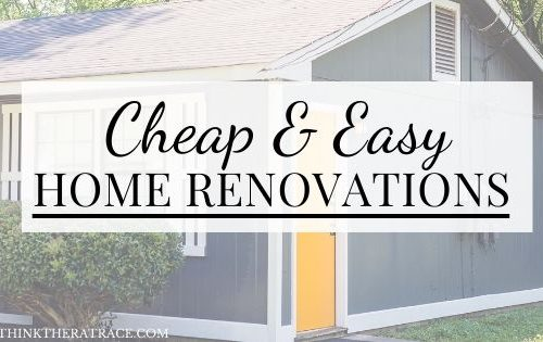 cheap and easy renovations